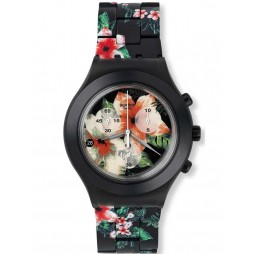 Swatch Ladies Flower Breeze Bracelet Watch SVCF4002AG