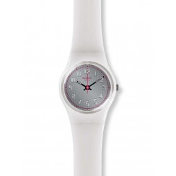 Swatch Lady Spy White Strap Watch LM139