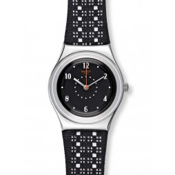 Swatch Ladies Black Puncher Watch YLS184