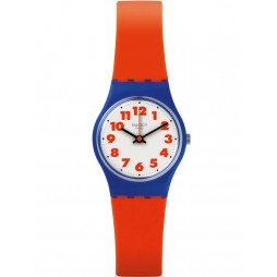 Swatch Waswola Red Strap Watch LS116