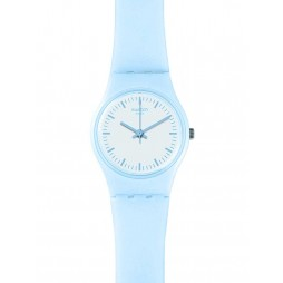 Swatch Ladies Clearsky Blue Strap Watch LL119