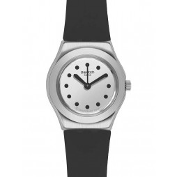 Swatch Ladies Cite Cool Black Strap Watch YSS306