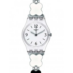 Swatch Ladies Clovercheck Two Colour Bracelet Watch LK367G