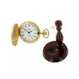 Woodford Pocket Watches Burleigh Mens Gold Plated Pocket Watch With Stand 1924