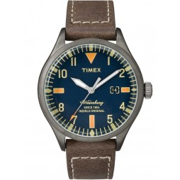 Timex Waterbury Mens Leather Strap Watch TW2P83800