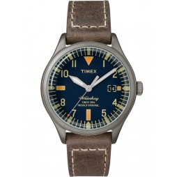 Timex Waterbury Mens Leather Strap Watch TW2P84400