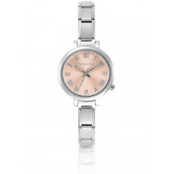 Nomination CLASSIC Paris Pink Sunray Dial Bracelet Watch 076010/014