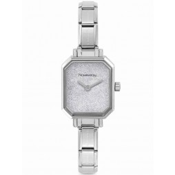 Nomination CLASSIC Paris Silver Glitter Rectangular Dial Bracelet Watch 076030/023