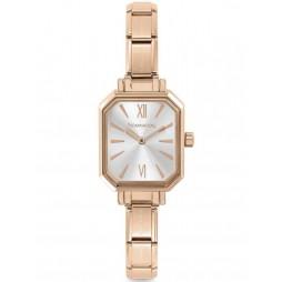 Nomination CLASSIC Paris Silver Rectangular Dial Rose Gold-tone Bracelet 076031/017
