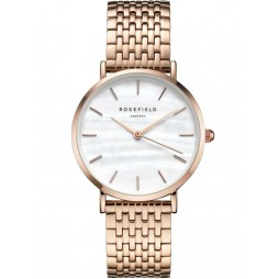 ROSEFIELD Ladies Rose Gold Plated Upper East Side Watch UEWR-U20