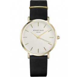 ROSEFIELD Ladies Black West Village Watch WBLG-W71