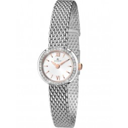 Accurist Stainless Steel Stone Bezel Watch 8060
