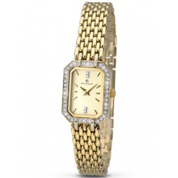 Accurist Ladies Gold Plated Bracelet Watch 8062