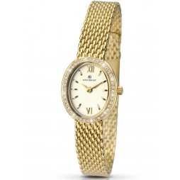 Accurist Ladies Gold Plated Stone Set Bracelet Watch 8069