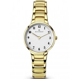 Accurist Ladies Gold Plated Bracelet Watch 8130