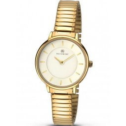 Accurist Ladies Gold Plated Expandable Bracelet Watch 8140
