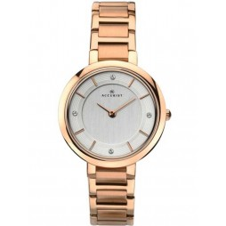 Accurist Ladies Rose Gold London Watch 8152