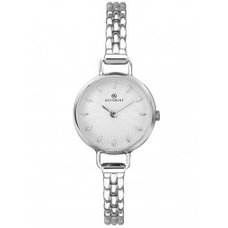 Accurist Ladies Stainless Steel Silver Dial Thin Bracelet Watch 8271