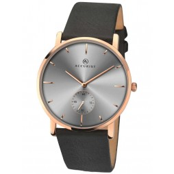 Accurist Mens Rose Gold Plated Strap Watch 7127