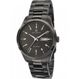 Accurist Mens Black Bracelet Watch 7058
