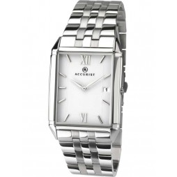 Accurist Mens Stainless Steel Rectangle Watch 7031