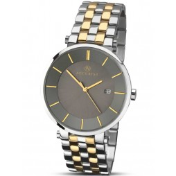 Accurist Mens Two Tone Stainless Steel Bracelet Watch 7092