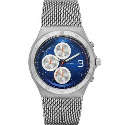 Skagen Mens Jannik Blue Chronograph Mesh Bracelet Watch SKW6154