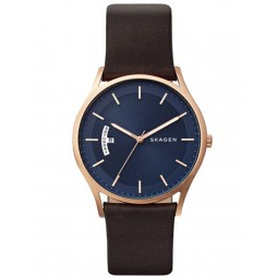 Skagen Mens Holst Gold Plated Strap Watch SKW6395