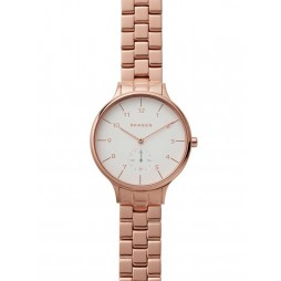 Skagen Ladies Anita Rose Gold Plated Bracelet Watch SKW2417