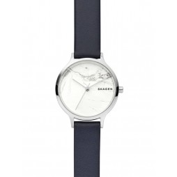 Skagen Anita White Leather Strap Watch SKW2719