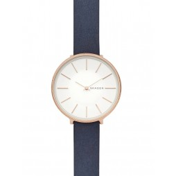 Skagen Karolina Rose Gold Plated Leather Strap Watch SKW2723