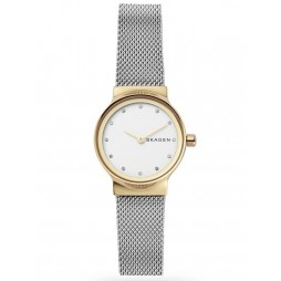 Skagen Ladies Freja Two Colour White Dial Bracelet Watch SKW2666