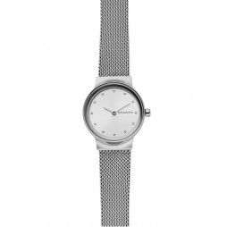 Skagen Ladies Freja Silver Dial Mesh Bracelet Watch SKW2715