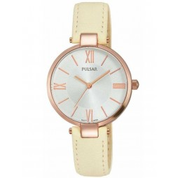 Pulsar Ladies Rose Gold Plated Strap Watch PH8246X1