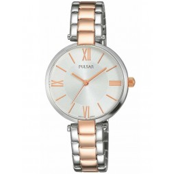 Pulsar Ladies Classic Two Tone Bracelet Watch PH8242X1