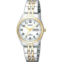 Pulsar Ladies Two Tone Bracelet Watch PN8006X1