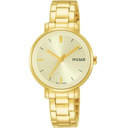 Pulsar Ladies Gold Plated Attitude Watch PH8360X1