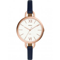 Fossil Ladies Annette Blue Strap Watch ES4355