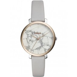 Fossil Ladies Jacqueline Marble Grey Strap Watch ES4377