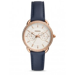 Fossil Tailor Multifunction Navy Leather Strap Watch ES4394