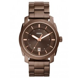 Fossil Mens Machine Brown Bracelet Watch FS5370