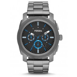 Fossil Machine Choronograph Smoke Bracelet Watch FS4931