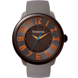 Tendence Mens Fantasy Grey Orange Strap Watch T0630002