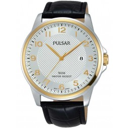 Pulsar Mens Dress Two Tone Strap Watch PS9444X1