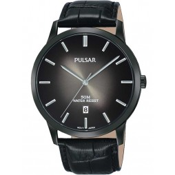 Pulsar Mens Black Dress Watch PS9535X1