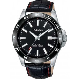 Pulsar Mens Black Sports Watch PS9463X1