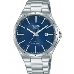 Pulsar Mens Solar Blue Sports Watch PX3139X1
