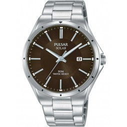 Pulsar Mens Solar Brown Sports Watch PX3137X1