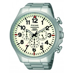 Pulsar Mens Chronograph Bracelet Watch PT3321X1