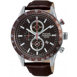 Pulsar Mens Brown Chronograph Watch PF8443X1